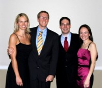 The annual neurosurgery graduation banquet, held June 21, honored their graduating residents. From left, Amy Murad, Greg Murad, John Reavy-Cantwell, Jordana Reavey-Cantwell