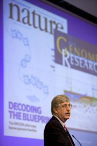 Francis Collins was the guest speaker at the UF Genetics Institute's annual symposium in October. Photo by Sarah Kiewel