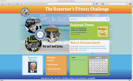 Informatics specialists from the University of Florida Clinical and Translational Research Informatics Program in the College of Medicine developed a new Web site for Florida's Governor's Fitness Challenge. The new Web site is geared toward getting more children involved in the program, which aims to increase physical activity in kids.