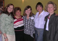 The 2008 Medical Guild board officers (from left) Keri Steele, Nicole Scagnelli, Jennifer Postoak, Janice Nelson and Kathryn Seagle