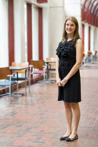 After commencement, UF College of Medicine class of 2013 graduate, Eva Vertes, will continue to pursue an already promising career in cancer research. Photo by Jesse S. Jones