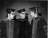 Dr. Suter with two UF College of Medicine graduates in 1971. Photo courtesy of UF Digital Collections