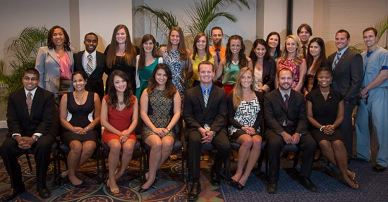 The society inducted 23 fourth-year medical students, six residents and two faculty members. Photo by Charles Poulton