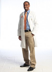 Luther St. James, a second-year UF medical student, is the son of two UF graduates and family medicine physicians in Daytona Beach, Florida. Photo by Maria Belen Farias