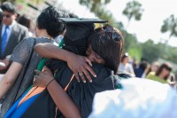 Friends and family came together to celebrate this year's UF College of Medicine graduates. Photo by Jesse S. Jones