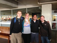 Gabriel Foster, Lindsay Schaefer Flynn, Avrind Reddy and Jon Mizrahi were the fourth-year UF medical students who served on a DR HELP trip to Jarabacoa, Dominican Republic.