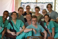 Philip Gilbo, pictured in the top right corner, took his fourth trip to Nicaragua during a Global Health Education opportunity this past spring break.
