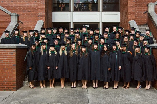 Members of the class of 2014 took their first steps as PAs on June 21. Photo by Jeff Knee
