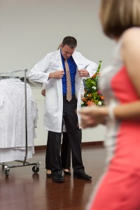 Members of the UF School of Physician Assistant Studies class of 2015 received their white coats in a ceremony June 6. Photo by Jesse S. Jones