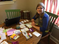 """Emily Warren put together a gift bag with """"get well"""" messages and gift cards for patients in the UF Health Pediatric Heart Transplant Program. Photo courtesy of Catherine Warren"""