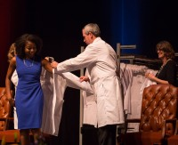 The White Coat Ceremony marks a transition from basic science to clinical science learning. Photo by W. Charles Poulton