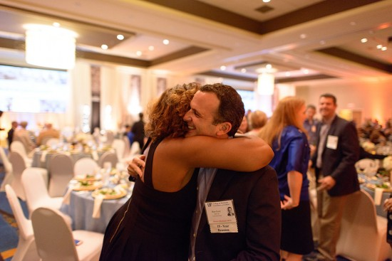 As part of the Alumni Weekend festivities, graduates celebrating milestone reunion years reconnected with classmates at an elegant sit-down dinner. Photo by Mindy C. Miller