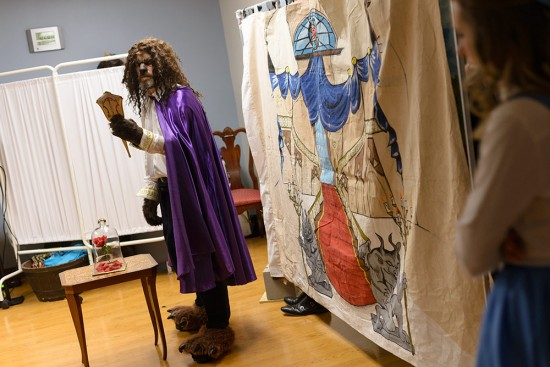 """UF medical students perform """"Beauty and the Beast"""" for pediatric patients Feb. 16. Photo by Jesse S. Jones"""