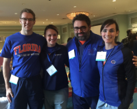 """""""SonoGators"""" (pictured from left to right): Matthew Earle, Rachel Thome, Dr. Giuliano De Portu and Anne-Marie Carpenter."""