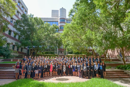 Students from the UF College of Medicine class of 2020 attend first-year orientation. Photo by Jesse S. Jones