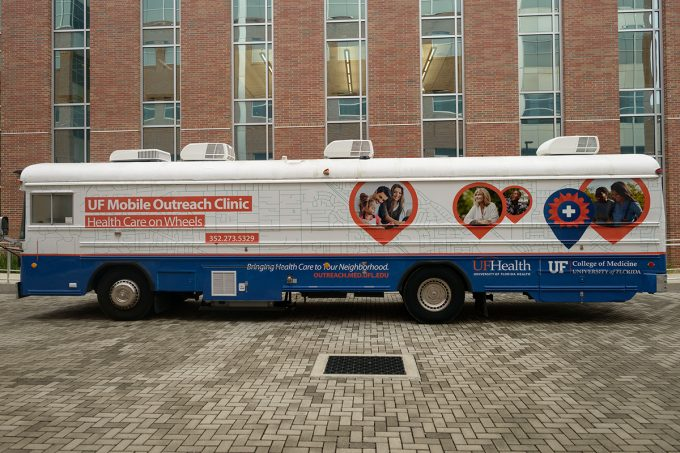 College unveils newly renovated UF Mobile Outreach Clinic bus