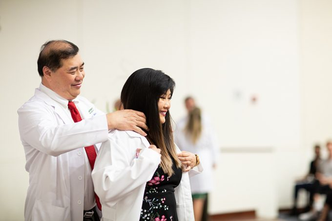 First-year PA students receive white coats