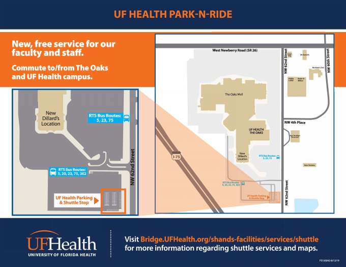 "UF Health to offer new, free ""Park-n-Ride"" service"